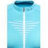 X-Bionic Effektor Power Biking Shirt SS Full Zip Women Turquoise/White